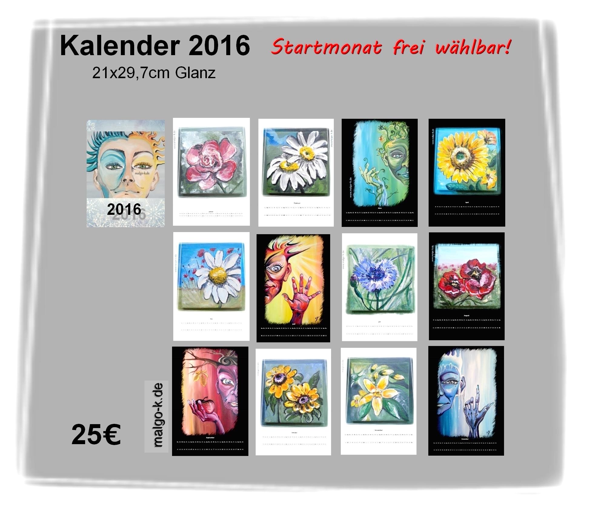 2016 kalenderDruck